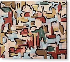 Dino Pattern Acrylic Print