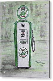Dino Sinclair Gas Pump Acrylic Print by Kathy Marrs Chandler