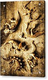 Dinosaurs In A Bone Display Acrylic Print