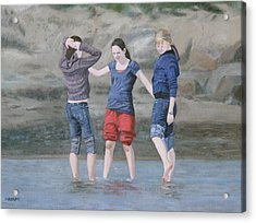 Dipping In The Water Acrylic Print