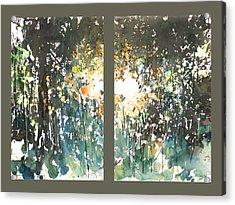 Diptych No.11 Acrylic Print by Sumiyo Toribe
