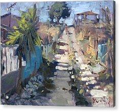 Dirt Road At Kostas Garden Acrylic Print