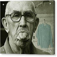 Acrylic Print featuring the photograph Dirty Blue Shirt by Jan Piller
