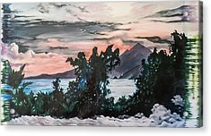 Disapearing Landscape #1 Acrylic Print by Darren Mulvenna