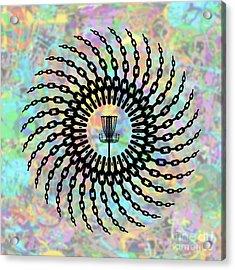 Disc Golf Basket Chains Acrylic Print