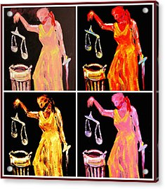 Discard Of Justice Acrylic Print by Mary Schiros