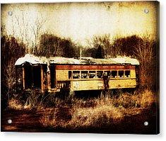 Discarded Train Acrylic Print