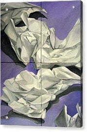 Discards Acrylic Print by Julie Orsini Shakher