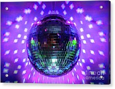 Disco Ball Purple Acrylic Print