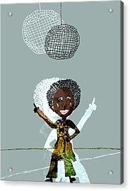 Disco Lady Acrylic Print