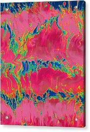 Disco Lemonade  Pk Acrylic Print by Jane Biven