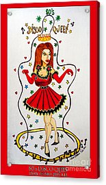 Acrylic Print featuring the painting Disco Queen 80's by Don Pedro De Gracia