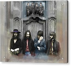 Discontent The Beatles Acrylic Print by Iconic Images Art Gallery David Pucciarelli