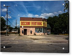 Discount Everything Acrylic Print by Bryan Scott
