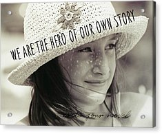 Discover Yourself Quote Acrylic Print by JAMART Photography