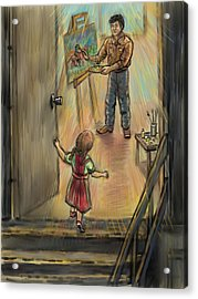Discovering Daddy's World Acrylic Print by Dawn Senior-Trask