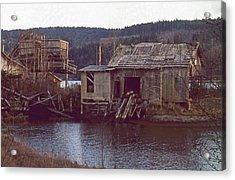Discovery Bay Mill Acrylic Print by Laurie Stewart