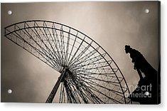 Dismantling Of A Ferris Wheel. Acrylic Print by Bernard Jaubert