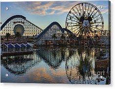 Disney California Adventure Reflections Acrylic Print
