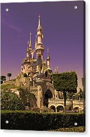 Disney Castle Paris Acrylic Print