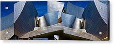Disney Concert Hall-montage (color Version) Acrylic Print by Ron Jones