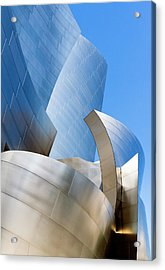Acrylic Print featuring the photograph Disney Hall In Blue And Silver by Lorraine Devon Wilke