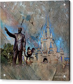 Disney World Acrylic Print by Gull G