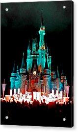 Acrylic Print featuring the photograph Disney World Night by John Haldane