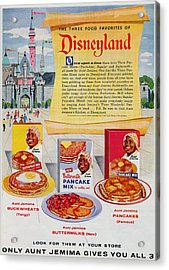 Disneyland And Aunt Jemima Pancakes  Acrylic Print