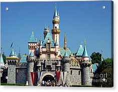 Acrylic Print featuring the photograph Disneyland Castle by Mariola Bitner