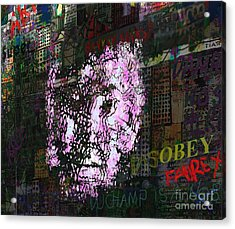 Disobey  Acrylic Print by Andy  Mercer