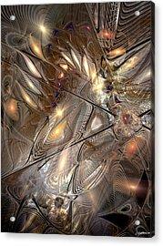 Disorderly Relativistic Interpretations Acrylic Print by Casey Kotas