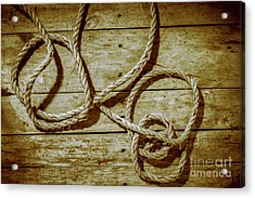 Dispatched Ropes And Voyages Acrylic Print