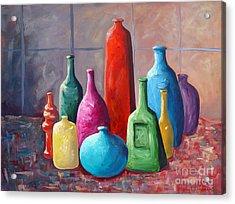Display Bottles Acrylic Print