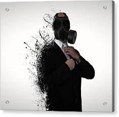 Dissolution Of Man Acrylic Print by Nicklas Gustafsson