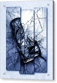 Dissonance In Blue Acrylic Print by Gary Bodnar