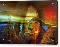 Distant Drum Acrylic Print by Shadowlea Is