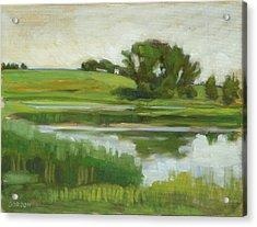 Distant Farm Acrylic Print
