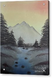 Distant Mountain Acrylic Print