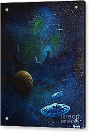 Distant Nebula Acrylic Print by Murphy Elliott