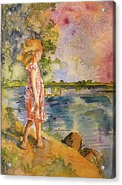 Acrylic Print featuring the painting Distant Shores by P Maure Bausch
