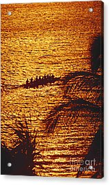 Distant View Of Outrigger Acrylic Print by Ron Dahlquist - Printscapes