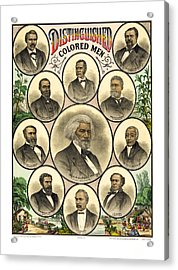 Distinguished Colored Men   1883 Acrylic Print