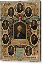 Distinguished Masons Of The Revolution Acrylic Print