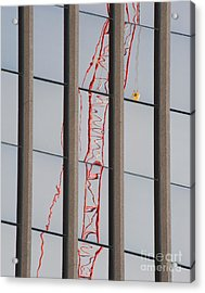 Distorted Reflection Of A Tower Crane Acrylic Print by Thom Gourley/Flatbread Images, LLC