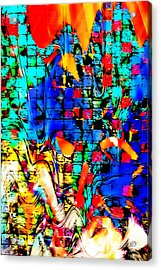 Distortion Acrylic Print by Tom Gowanlock