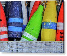 Distressed Buoy Acrylic Print by JAMART Photography
