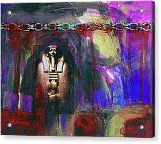 Distressed Civilization  Acrylic Print by Walter Fahmy