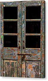 Distressed Doors Acrylic Print