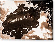 Distressed Parisian Street Sign Acrylic Print